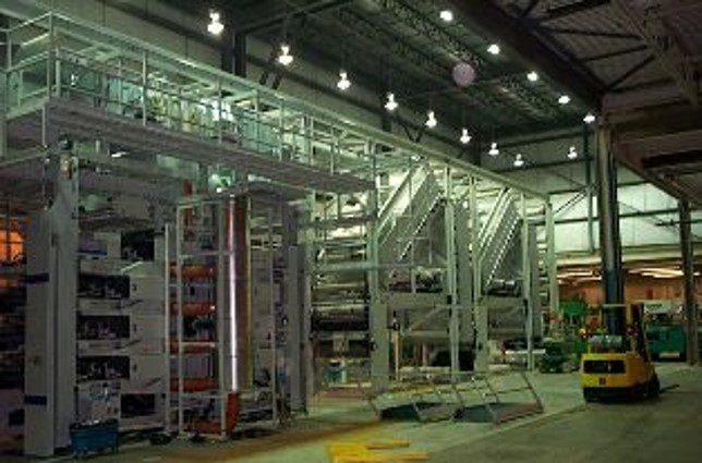 industrial machine installation